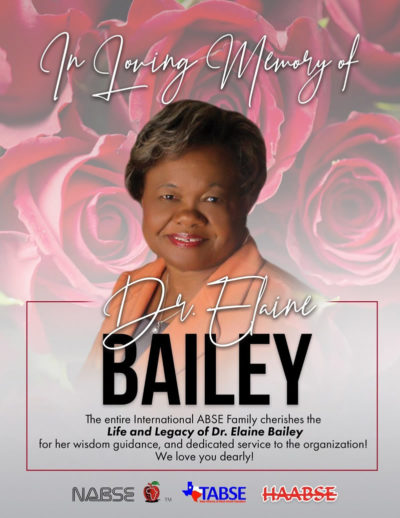 In Loving Memory of Dr. Elaine Bailey